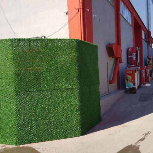 Tuzla Deri Sanayi'deki Coca Cola Fabrikası Çimenli Çit Uygulaması